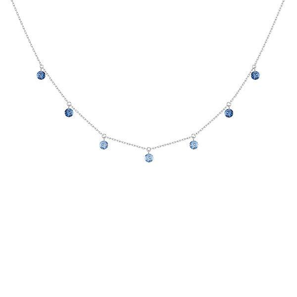 Collar La Brune & La Blonde Confetti azul-7 piedras