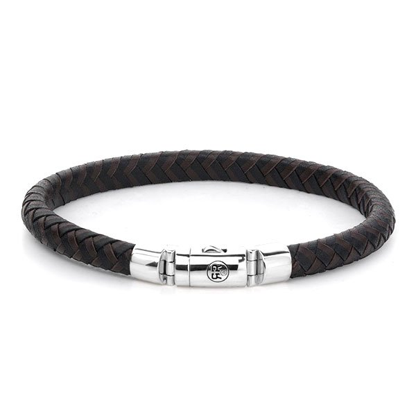Pulsera Rebel & Rose Half Round Braided Black-Earth