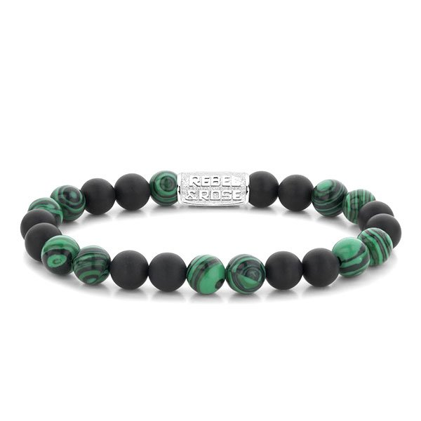 Pulsera Rebel & Rose Matt Malachite Twist