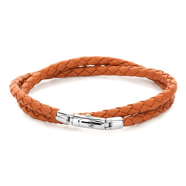 Pulsera Rebel & Rose Twisted Round Orange