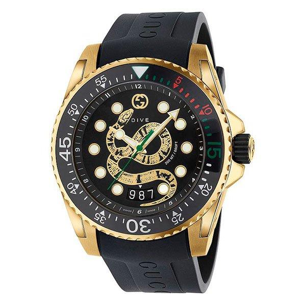 Reloj Gucci Dive Snake Gold PVD