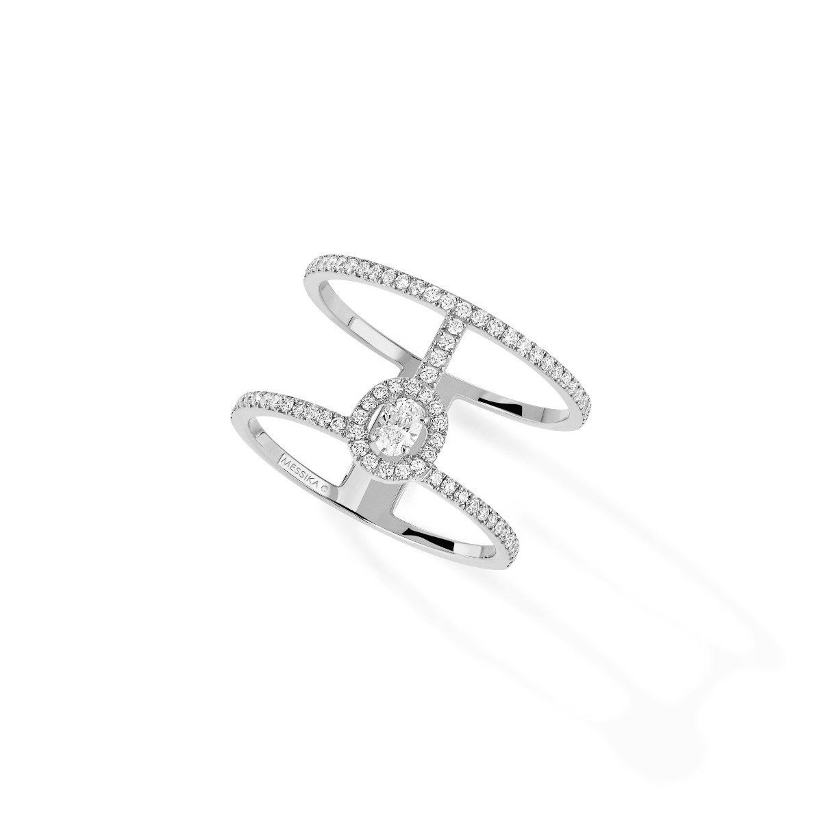 Anillo Messika Glam'Azone 2 Rows Pavé
