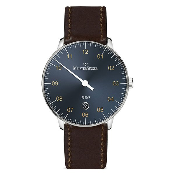 Reloj Meistersinger Neo Plus Sunburst Steel Blue