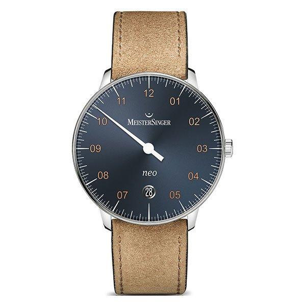 Reloj Meistersinger Neo Sunburst Steel Blue