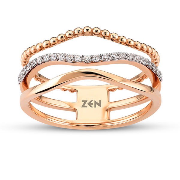 Anillo Triple Zen Diamond