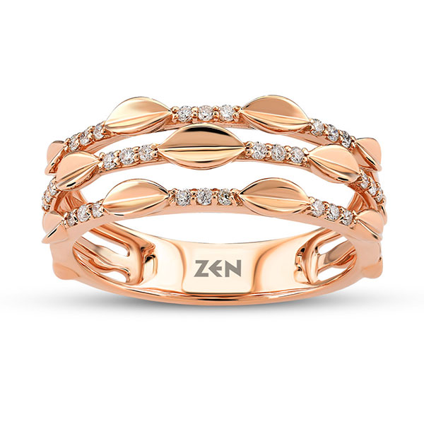 Anillo Zen Diamond Oro Rosa