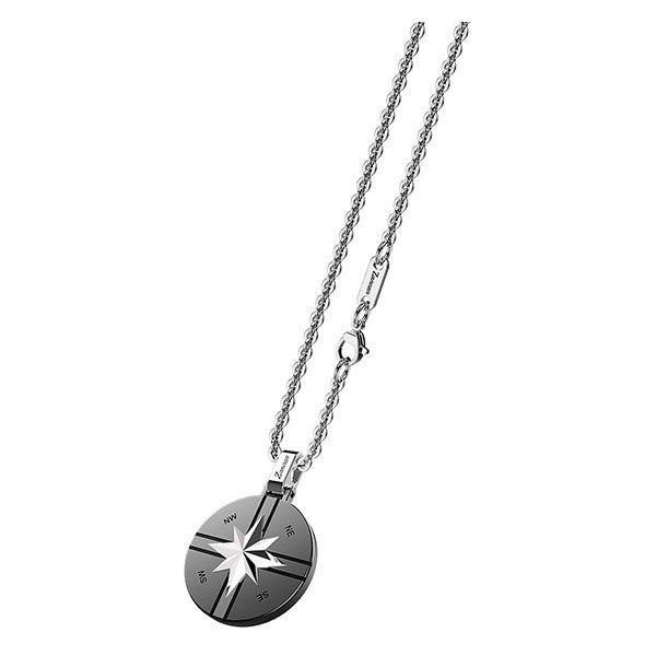 Collar Zancan de acero con colgante redondo y estrella