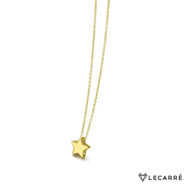 Colgante de estrella pequeña con cadena incluida