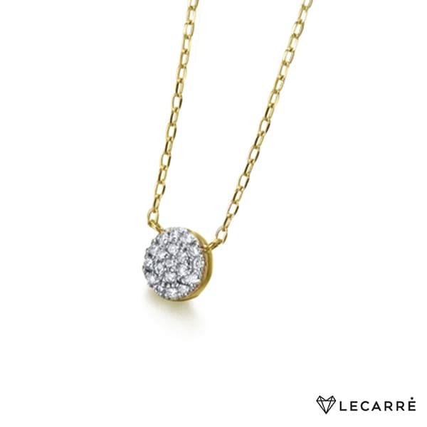 Gargantilla bicolor con diamantes en pavé