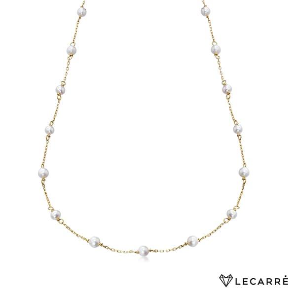 Gargantilla con perlas cultivadas
