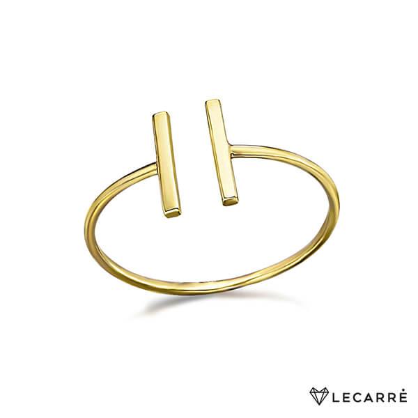 Anillo dos barras oro amarillo - LeCarré