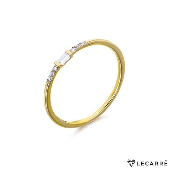 Anillo oro amarillo diamante baguette - LeCarré