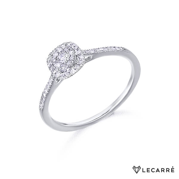 Anillo roseta Destiny oro blanco y diamantes - LeCarré
