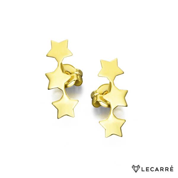 Pendientes estrellas oro amarillo - LeCarré
