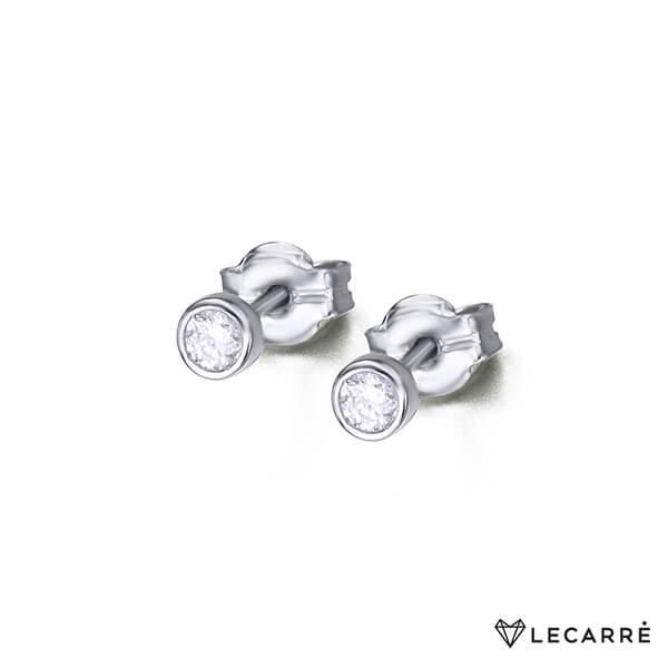 Pendientes oro blanco con diamantes - LeCarré