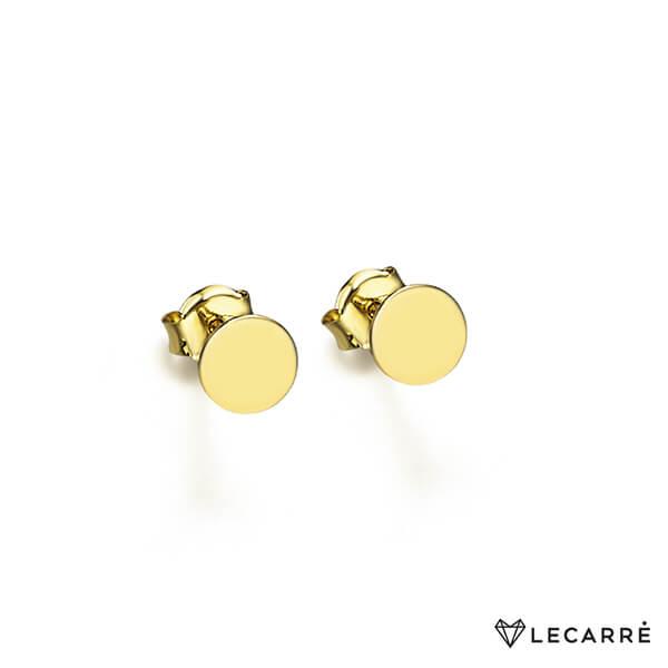 Pendientes oro chapita rectangular - LeCarré