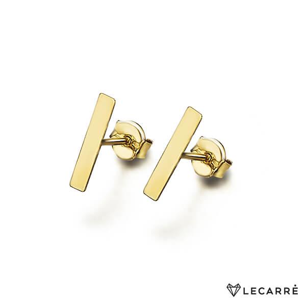 Pendientes oro chapita rendonda - LeCarré