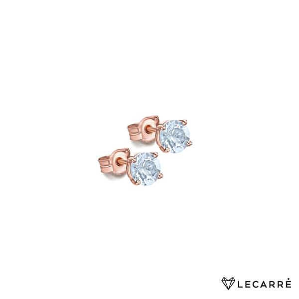 Pendientes oro rosa con topacios - LeCarré
