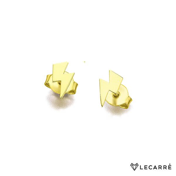 Pendientes oro liso rayo - LeCarré
