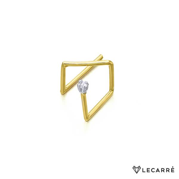 Pendiente Earcuff oro con diamante - LeCarré