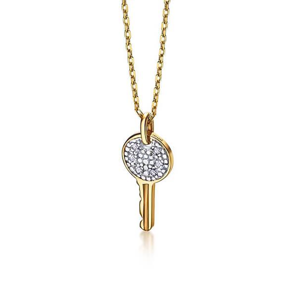 Gargantilla Llave oro y diamantes - LeCarré